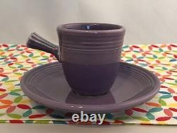 Fiestaware Lilac Stick Handled Demi Cup Fiesta Purple Demitasse Cup and Saucer