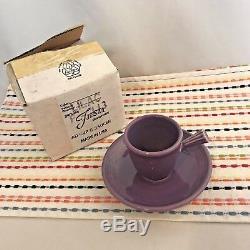 Fiestaware Lilac Stick Handled Demi Fiesta Purple Demitasse Cup and Saucer