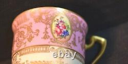 Fine Vintage Hand Painted Floral Royal Worcester Demitasse Cup and Saucer