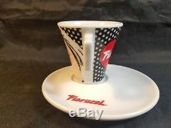 Fiorucci Pop Art Post Modern Demitasse Espresso Cups & Saucers 4pc Set