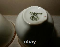 Fisher 670g Sterling Silver Demitasse Cups + Saucers Rosenthal Inserts SET OF 12