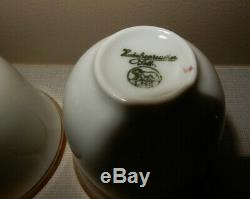 Fisher Sterling Silver Demitasse Cups & Saucers with Rosenthal Insert SET OF 12
