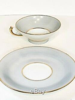 France Demitasse Limoges Unique set of 8 H. T. Tea Cups & Saucers