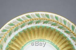 French Richard Briggs Old Paris Style Green & Gold Leaf Demitasse Cup C. 1890