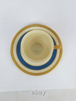 GRAF ZEPPELIN LZ Demitasse Cup & Saucer HEINRICH & Co Selb Bavaria Original 1928