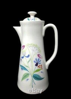 Gustavsberg Florette Demitasse Set Pot Creamer Sugar & 8 ea Cup Saucer Plates