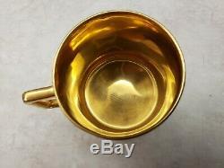 Hand Painted Love Story Fragonard Demitasse Cup Saucer Bavaria Beehive Mark