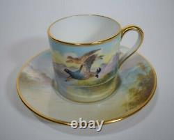 Hand Painted Minton Demitasse Cup & Saucer