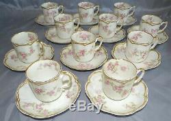 Haviland Limoges France Schleiger 1131d Set of 11 Demitasse Cups & Saucers