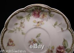 Haviland Limoges Schleiger 39 Double Gold Chocolate Demitasse Cup and Saucer -A