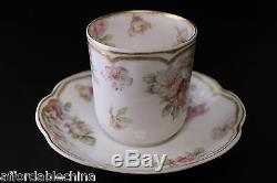 Haviland Limoges Schleiger 39 Double Gold Chocolate Demitasse Cup and Saucer -B