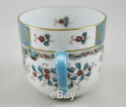 Herend Porcelain Cornucopia Tupini Tca Demitasse Cup & Saucer 1727 1st Mint