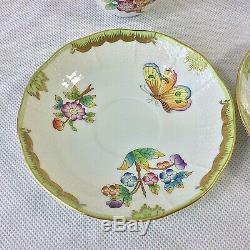 Herend Queen Victoria 1 Set 2 Mocha Demitasse Cups Saucers 2 Sets Avail 711 Vbo