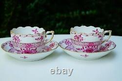 Herend Waldstein red 2 pcs demi-tasse cup and 2 saucers 711