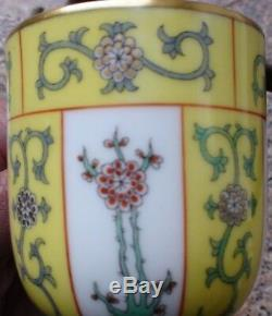 Herend Yellow Dynasty Demitasse Cup And Saucer Mint 12 Sets Available