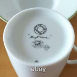 Hermes Demitasse Cup & Saucer Rythme Porcelain Coffee Cup White