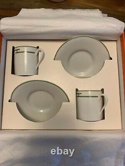 Hermes Demitasse Porcelain Expresso Cup & Saucer
