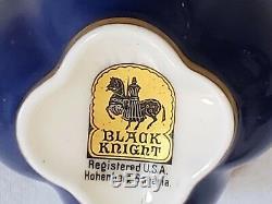 Hohenberg Bavaria, 6 Black Knight Gold Rimmed Demitasse Cup & Saucer Set, COLORS