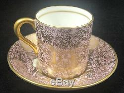 Insanely Rare Paragon Pink Floating Rose Demitasse Cup & Saucer