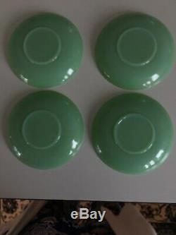 Jane Ray Jadeite Demi Tasse Cups And Saucers Rare and Collectable 4 Available