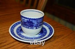 Lamberton Scammell Baltimore & Ohio Railroad TALL demitasse Cup & Saucer
