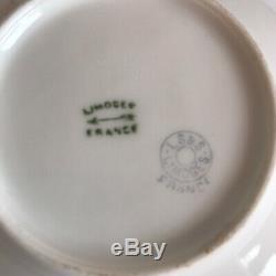 Laviolette Limoges Demitasse Cups & Saucers Hand Painted LS&S France Antique
