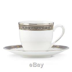 Lenox Vintage Jewel Demitasse Cup & Saucer Set of 4