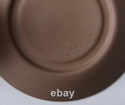 Lot of 3 Vintage Wedgwood Jasperware Cream on Taupe Demitasse Cup Saucer Tray