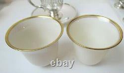 Lovely Rare Set 6 TIFFANY & CO Sterling Silver Demitasse Cups & Saucers