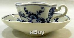 MEISSEN German Porcelain BLUE ONION Demitasse CUP & SAUCER