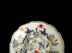 Meissen Antique Blue Onion Rich Demitasse Cup & Saucer Crossed Swords