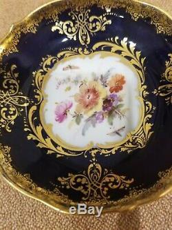 Meissen Demitasse demi cup and saucer floral cobalt 19th century