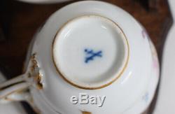 Meissen Hand Painted Demitasse Cup & Saucer