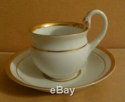 Meissen Hand Painted Dresden Swan Head Handle & Gold Demitasse Cup & Saucer