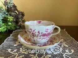 Meissen Pink Indian Fliwer Demitasse Cup & Saucer-1st Quality- Mint Condition