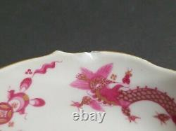 Meissen Pink Ming Dragon Demitasse Cup & Saucer Expresso Double Cross Sword (4)