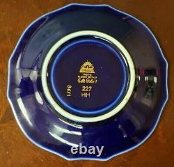 Mid Century Lindner Echt Cobalt Gold Bavaria German Demitasse Cup and Saucer