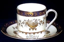 Minton Dynasty Cobalt Blue Demitasse Cup & Saucer English Bone China (13 availa)
