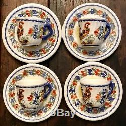 NEW $625 Quimper Le Coq Tea Set 1991 France Coffee Pot Cup Saucer Demitasse