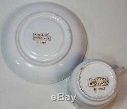 Original White Star Line Wisteria Pattern Demitasse Cup & Saucer 8/1905 1/1905