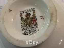 Paragon QUEEN ELIZABETH Vintage Demi-Tasse Cup & Saucer Set of 8
