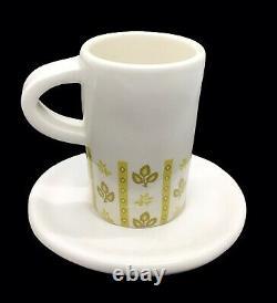 RARE Rae Dunn By Magenta SIP Espresso Cups & Saucers Demitasse Set 2005 2006