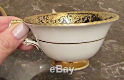 RARE! Vintage Hand Painted Paragon Demi-Tasse Tea Cup & Saucer Set Rose Buds