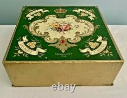 ROYAL CROWN DERBY Posies 12 Piece CUP & SAUCER BOXED SET Demitasse Expresso