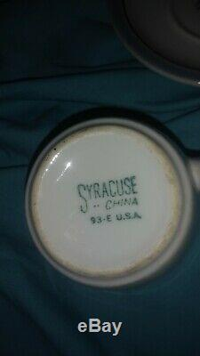 Railroad Dining Car China Wabash Banner Demitasse Cup & Saucer by Syracuse C