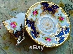 Rare Antique Victorian (1890s) Coalport Batwing (Y2665) Demitasse Cup & Saucer