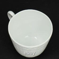 Rare! Giraud Limoges France'Corail White' Set of 6 Demitasse Cups and Saucers