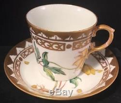 Rare Royal Copenhagen Floral Demi Tasse Cup & Saucer Flora Danica Type 1277 9093