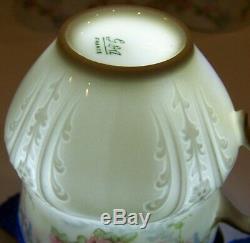 Rare Set Of 6 Ch Field Haviland Gda Limoges France Rose Demitasse Cups & Saucers