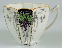 Rare Shelley Bunch of Grapes Demitasse Cup & Saucer c1925 Art Deco11574